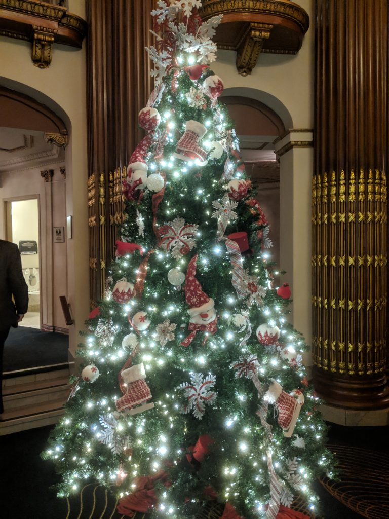 Playhouse Square's Allen Theater at Christmas