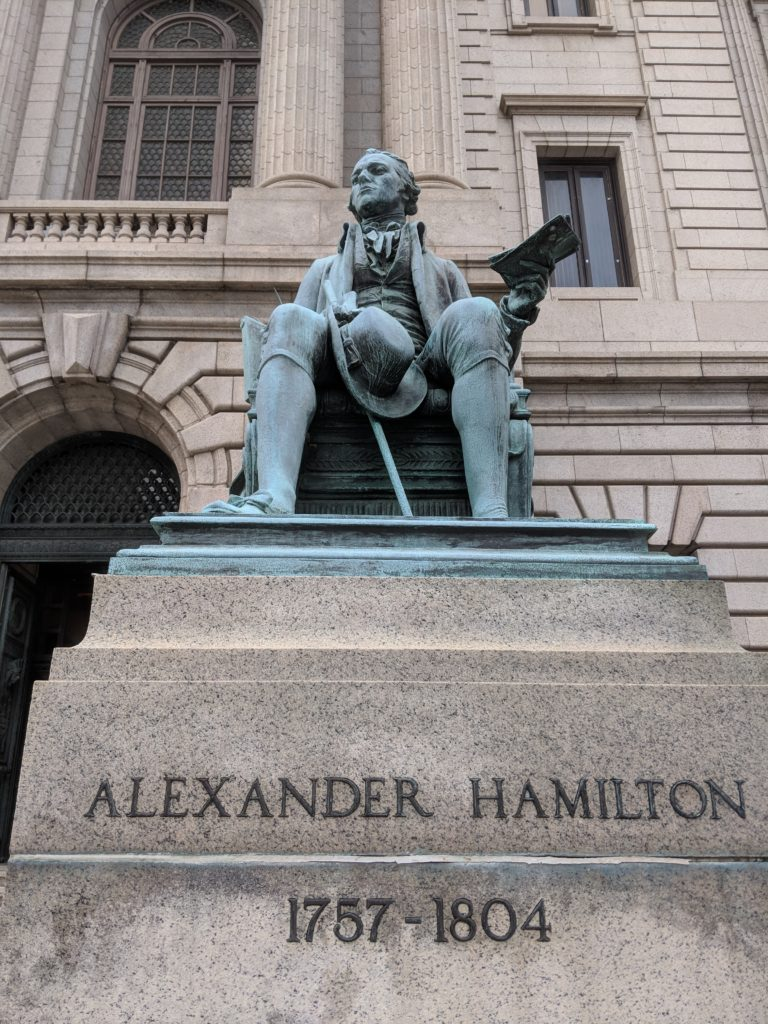 Alexander Hamilton outside the Cuyahoga County Courthouse