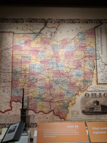 Map of Ohio in Ohio History Center