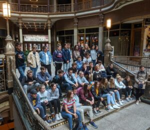 Highland High School on walking tour of Cleveland