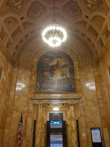 Federal Reserve of Cleveland mural by Cora Holden