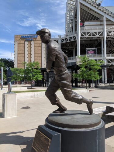 Cleveland Indians own Larry Doby Statue